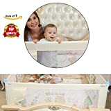 Safe-O-Kid Portable and Foldable Full Bed Rail for Kids, Large/6x2.5 ft (Beige)