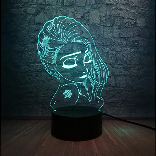 Beauty girl 3d led night light glow fairy tattoo flower teenager 7 cambia colore lampada da tavolo creative christmas gift remote control