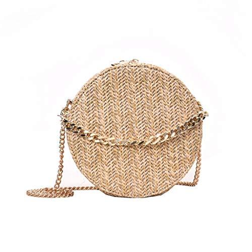 Fendi Schwarze Mini-bag (NMERWT Mode Damen Tasche Runde Form Quaste Weave Bag Damen Schultertasche Stroh Eimer Tasche Tasche Casual Handtasche)