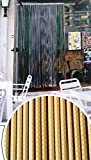 DEFACTO Türvorhang Fadenvorhang Braun/Beige 100x220cm PVC Vorhange Fliegenschutz Streifen 100% Made in Italia SABRINA
