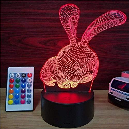 3D Lampe 7 Farben Ändern Acryl Nachtlicht Mit Smart Touch & Fernbedienung 3D Nachtlicht Als Geschenke Für Frauen Kinder Mädchen Jungen Touch Schalter