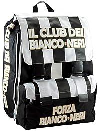 a38578294b Zaino Scuola Elementare BIANCO NERI Tifoso Juventus cartella Bambino  Estensibile
