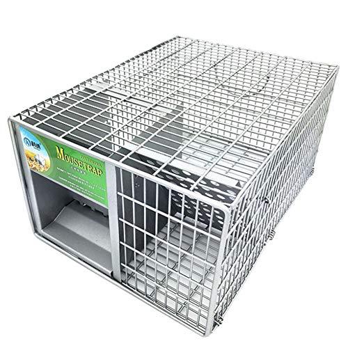 Animal trappola gabbia facile da impostare umano trappola per conigli gatti e simili dimensioni fauna selvatica adatto per interni ed esterni stabile gabbia di animali trappola umana live cattura