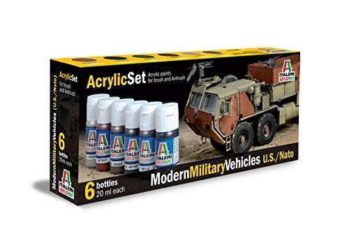 Italeri 510000442 - set di colori acrilici per modellini di veicoli militari