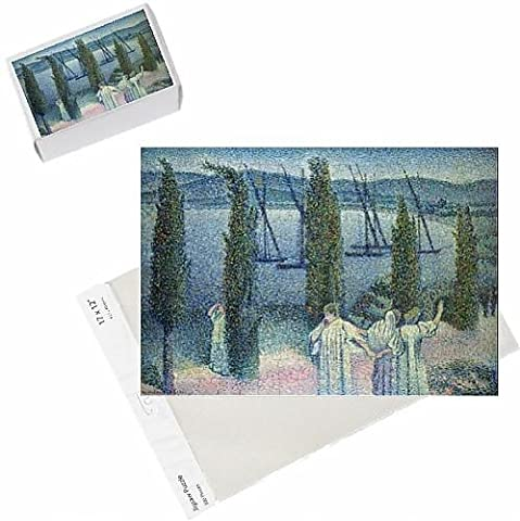 Photo Jigsaw Puzzle of Coastal View with Cypress Trees, 1896