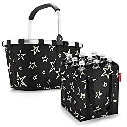reisenthel Set Carrybag Plus farblich passender bottlebag Einkaufskorb Einkaufstasche (Stars)