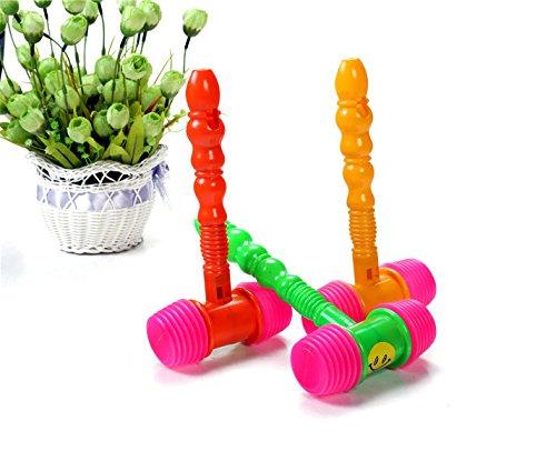 Quietschhammer mit Pfeife aus Kunststoff von Kelaina, Spielzeug für Kinder, zufällige Farbwahl