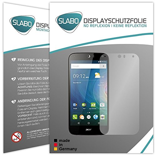 4 x Slabo Bildschirmschutzfolie für Acer Liquid Z630 / Z630S Dual-Sim Bildschirmfolie Schutzfolie Folie Zubehör