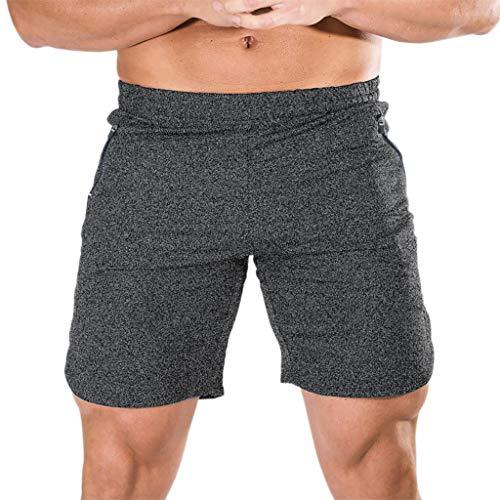 GreatestPAK Herren Fitnesshosen Freizeit Sport Boxershorts Pyjama Heimhosen Jogginghosen Slips,Dunkelgrau,EU:M(Tag:XL)