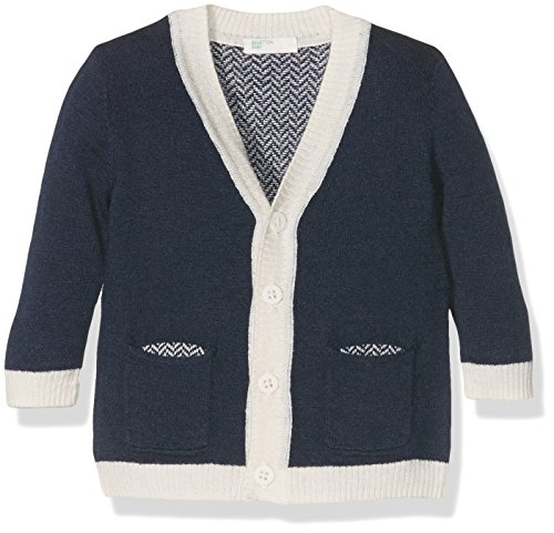 United Colors of Benetton Baby-Jungen Strickjacke 14AGC630N, Blau (Navy), Gr. 62 (Herstellergröße:3-6 Months)