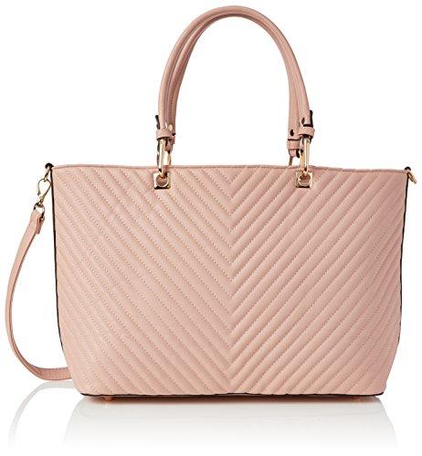 Swanky Swans Damen Ella V Stripe Tote Bag, Pink, 15x33x42 cm (Stripe Handtasche Tote Pink)