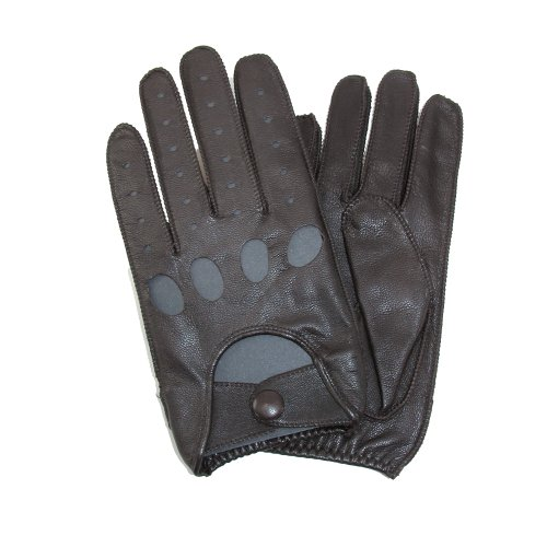 Isotoner Tote (Totes ISOTONER Herren Classic Leder Unlined Fahren Handschuhe, 2XL, Braun)