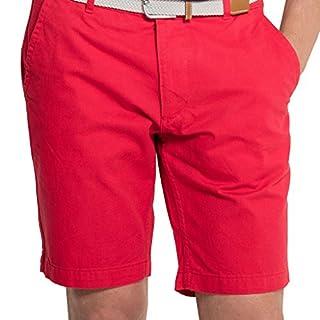 Asquith & Fox Men's Classic Chino Shorts In Cherry Red - 38