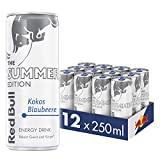 Red Bull Energy Drink, Summer Edition, Kokos-Blaubeere, 12er Palette (12 x 250 ml Dosen Getränke)