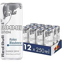 Red Bull Energy Drink Kokos-Blaubeere 12 x 250 ml Dosen Getränke Summer Edition 12er Palette