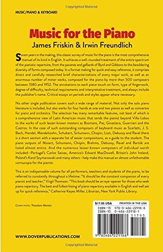 James friskin/Irwin freundlich: Music For The Piano. Para Piano
