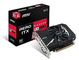 MSI AMD RX 550Aero ITX 2G OC 128-bit GDDR5memoria DisplayPort/HDMI/DL-DVI-D, PCI Express–nero
