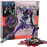 Yvonnezhang Revoltech Evolution Test Typ-01 Neon Genesis Evangelion Figur Eva mit LED Licht PVC Actionfiguren Sammlermodell Spielzeug, mit Box