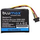 Blumax - 40216 Batterie pour Tomtom - Go Live 1000, 1005, 3.7V, 1050 mAh, Li-Ion (Produit Import)