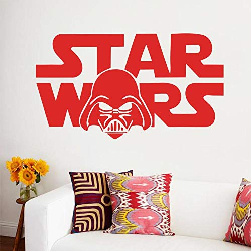YuanMinglu Planet Logo Applique Vinyl Aufkleber Wandtattoo Baby Kinderzimmer Schlafzimmer Home Decor Schlafzimmer Art Interior Design Rot 58cm x 32cm