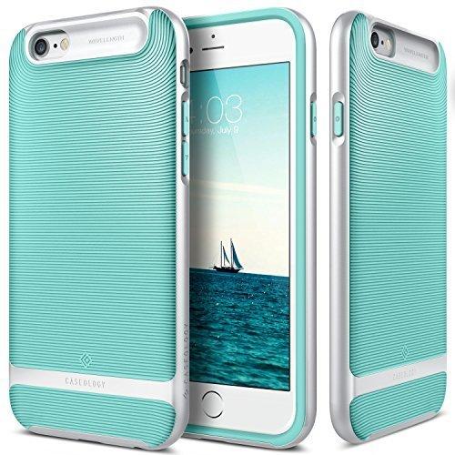iPhone 6 Hülle, Caseology [Wavelength Serie] Schlank Doppelte Schutzschicht Taktil Griff Military Grade Schutz [Mint Grün - Mint Green] für Apple iPhone 6 (2014) & iPhone 6S (2015)