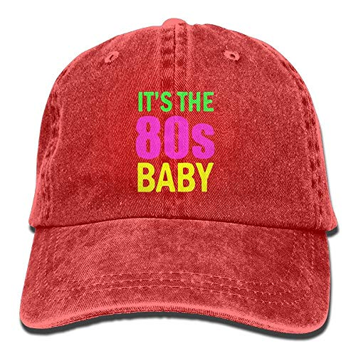 Naiyin Baby It's The 80s Vintage Washed Dyed Cotton Twill Low Profile Adjustable Baseball Cap Black