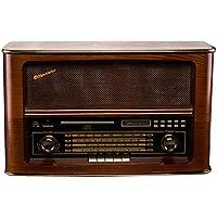 Roadstar HRA-1550USMP - Radio CD (MP3, FM, USB), color marrón