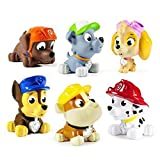 #8: Kiditos Paw Patrol Figures Set of 12 - Rocky, Zuma, Skye, Rubble, Marshall & Chase - Rubber Chu Chu Musical Toys