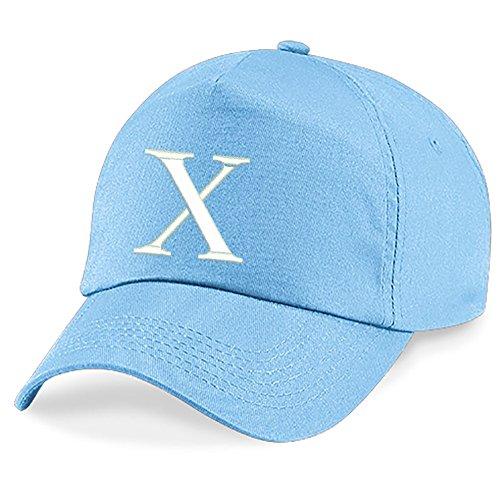 New Casquette de Baseball Cap BRODÉ Letter A Z Garçon Fille Enfants Chapeau Bonnet Unisexe Bleu 4sold X