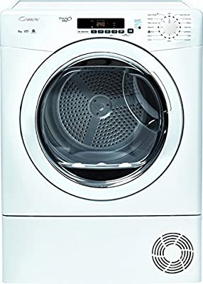 Candy GVSC8DG Freestanding B Rated Condenser Tumble Dryer - White by AO