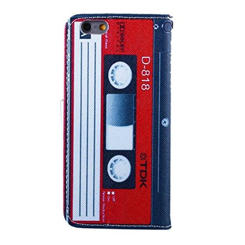 iPhone 6 plus Lederhülle - Felfy Schutzhülle für Apple iPhone 6 plus 6S plus 5.5 Zoll Campanula Muster Flip Ständer mit Card Holder Magnetic PU Leder Wallet Case Cover Etui Holster Handytasche + 1x Ro Magnetband Cas