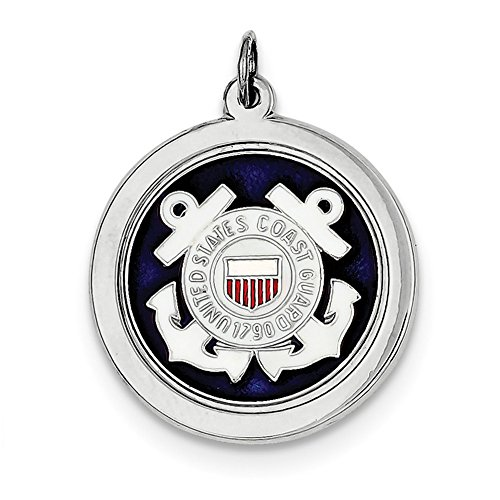Lex & LU Sterling Silber US Coast Guard Disc lal120356