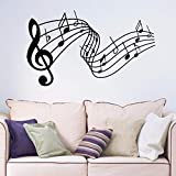 Notes de musique amovible wall art sticker autocollant salon chambre couloir portrait fenêtre décalque B