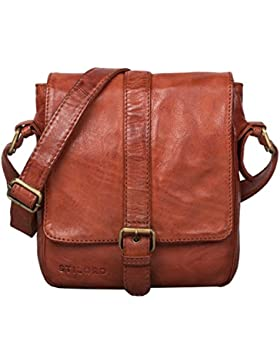 STILORD 'Jonah' Umhängetasche Leder Männer klein Herrentasche Vintage Messenger Bag für 8,4 Zoll Tablets Schultertasche...