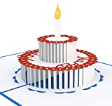 3D Geburtstagskarten mit Umschlag (3 Stück) - Pop-UP Glückwunschkarten in drei Motiven - Premium Grußkarten zum Geburtstag