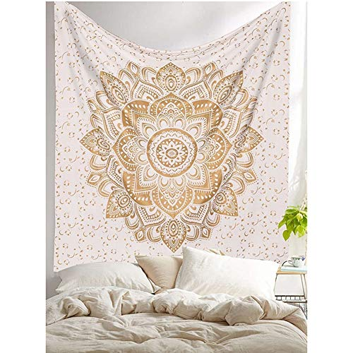 Demana Indian Boho Elephant Tapestry Color Mandala Decorativo Tapiz Tapiz Colgante 150x130cm...