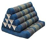 Coussin Thai triangulaire, avec assise 1 pli, Bleu-gris (81901)