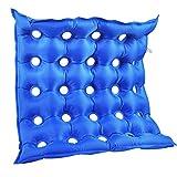 Aufblasbares Sitzkissen, Anti-Dekubitus-Matratze, quadratisch, mit Pumpe, ideal für langes Sitzen Free Size blau