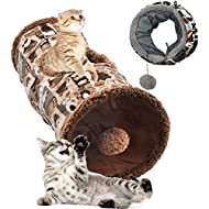 Kitticat Collapsible & Portable Cat Play Tunnel Soft Crinkle Crackle Interior & Pom Pom Toy