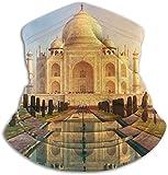 hgbygvuy Taj Mahal is Ivory White Marble Mausoleum Winter Fleece Neck Warmer Gaiter Head Scarf Face Mask for Women Men Multi-Function Headgear for Windproof Dust Skiing Hiking Cycling