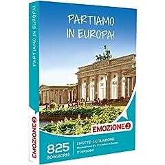 Idea Regalo - Emozione3 - Cofanetto Regalo - PARTIAMO IN EUROPA! - 825 soggiorni in Italia e Europa in rinomati hotel