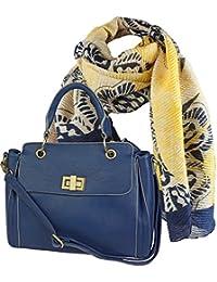 f56e98f52cfeaf Geschenk-Set, Damen Henkel-Tasche zusammen mit edlem Halstuch, langem Schal  mit