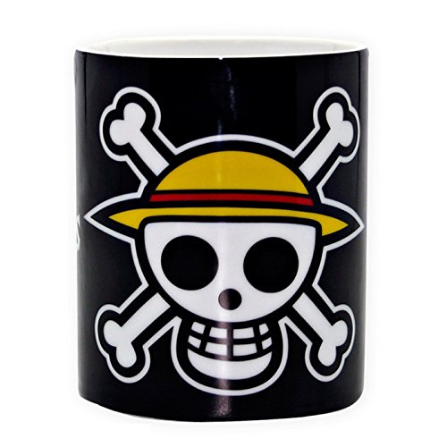 One Piece Tazza Pirata Con Simbolo Del Teschio, In Ceramica , 460 Ml