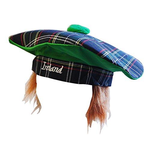 Irland Paddy-Hut im Tartan-Stil mit roten Haaren