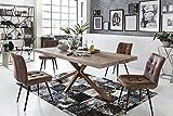 Sit Möbel Tische Tisch 200x100 cm, Balkeneiche White wash Platte Balkeneiche, Gestell Stahl L = 200 x B = 100 x H = 76,5 cm Platte White wash, Gestell antikbraun