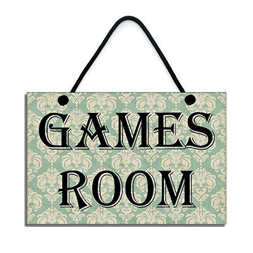 Spiele Raum handgefertigt aus Holz Home Schild/451 (Spiel-raum-zeichen)