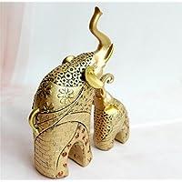 pengweiretro adornos europeos elefante dorado de resina artesanal decoraciones Ideas