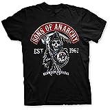 Sons of Anarchy T-Shirt mit Samcro Logo SOA Schwarz Trikot - Original Offiziel (Schwarz, XX-Large)