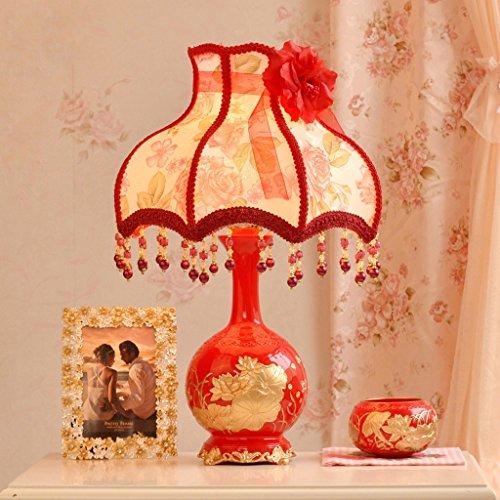 Red Art-glas-tisch-lampe (MXD Red Minimalist Stoff Lampenschirm Schreibtischlampe Modern Home Schlafzimmer Nachttischlampe Creative Fashion Study Zimmer Wohnzimmer Persönlichkeit Beleuchtung)