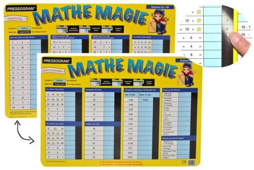 Unbekannt Pressogramm: schreib und wisch Weg - Zahlen bis 100 Multiplizieren, Addieren + Uhrzeit Lernen - zum Rechnen Mathematik Uhr - Abc Reiben